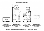 Floorplan of Dersingham Road, Childs Hill, London, NW2 1SN